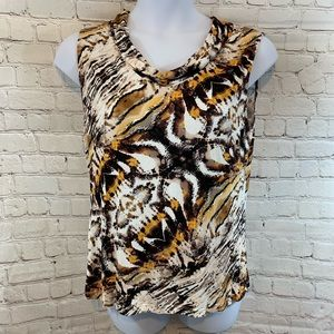 Women's Tahari sleeveless cowl neck Top Sz XL